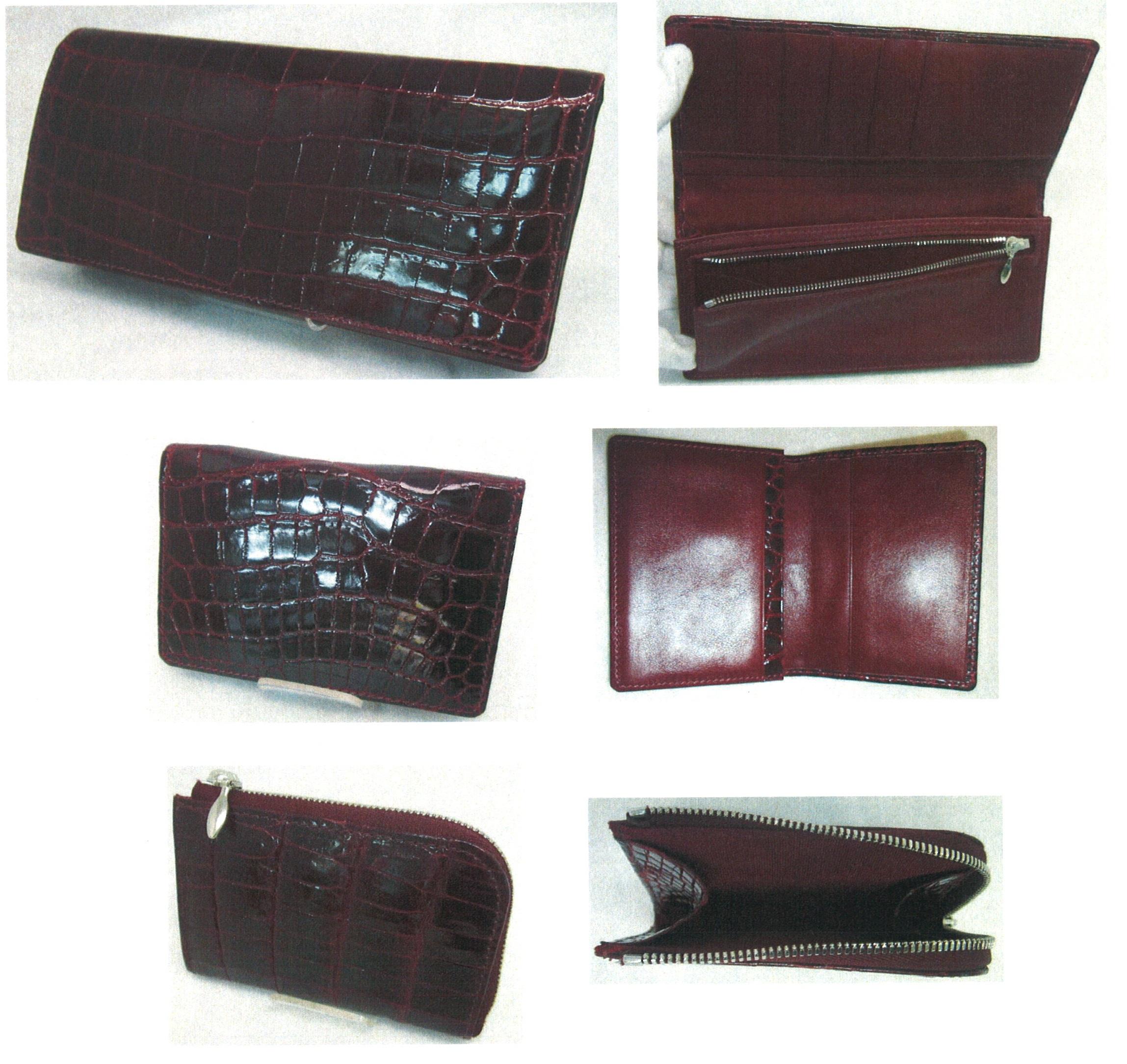 ご希望仕様の長財布を作製し、残りの革で名刺入れと小銭入れ作製の追加依頼をいただきました