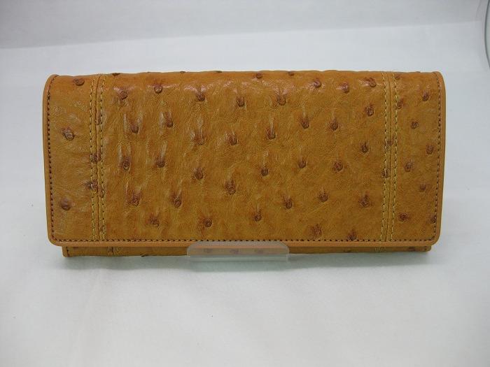 ハギ合わせのステッチがアクセントの長財布にリメイク。